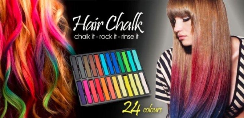 Popron.cz - Barevné křídy na vlasy – 24 barev - Kartáče na vlasy ... 304f7ec729