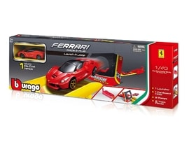 Bburago 1:43 Ferrari Race & Play Launch N Jump Set s jedním autíčkem