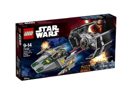 Lego Star Wars Vader's TIE Advanced vs. A-Wing Starfighter