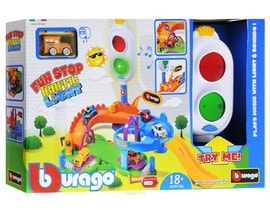Bburago Fun Stop Trafic Light Play Set s jedním autíčkem 30111