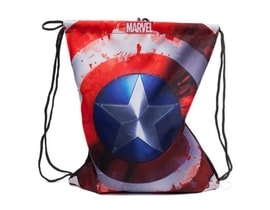 Pytlík Gym bag Marvel/Captain America Logo (35 x 44 cm/16 litrů)