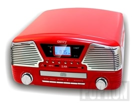 Gramofon z CD/MP3/USB/SD Camry CR 1134 červ