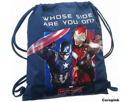 Gym bag Captain America modrý
