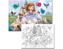 Disney Sofia the First puzzle 2 v 1 - 108 dílků
