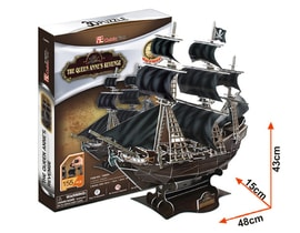 Puzzle 3D The Queen Anne's Revenge 155 dílů