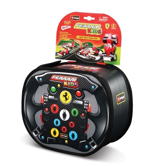 Bburago Ferrari Kids Carry Back Track set