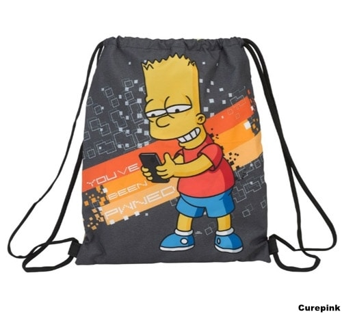 Batoh Pytlík Gym Bag The Simpsons/Simpsnovi
